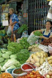markt in zentralthailand